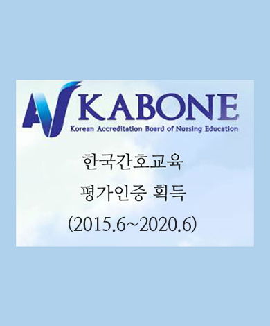 kabone korean accreditation board of nursing education 한국간호교육 평가인증 획득 2015.6~2020.6